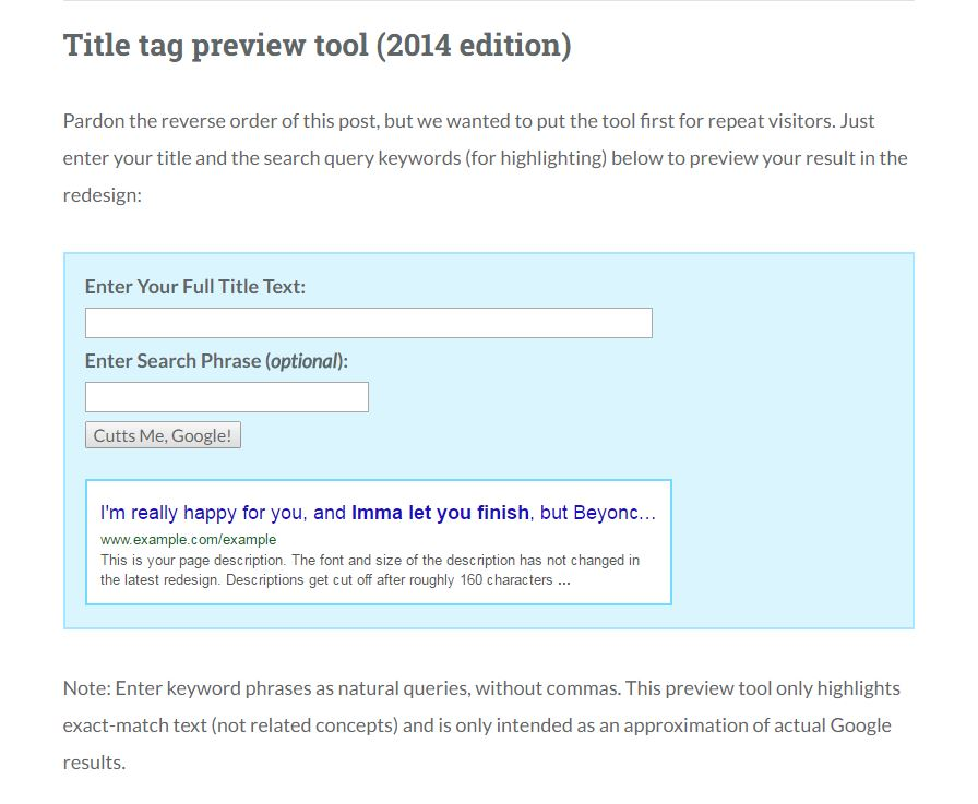 moz preview tool