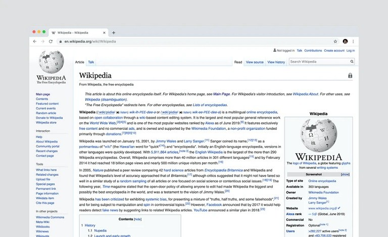 wikipedia sources