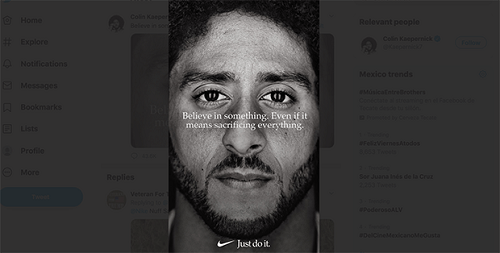 Modern Just Do It campaign from Nike with Colin Kaepernick